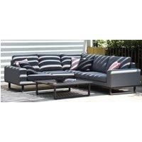 Maze Lounge Outdoor Ethos Flanelle Fabric Corner Sofa Group