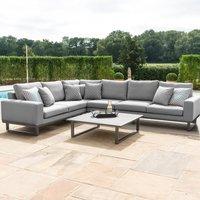 Maze Lounge Outdoor Ethos Flanelle Fabric Large Corner Sofa Group