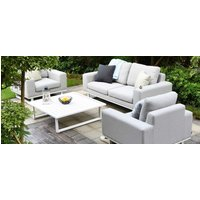Product photograph showing Maze Lounge Outdoor Ethos Lead Chine Fabric 2 Seat Sofa Set With Coffee Table