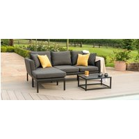 Product photograph showing Maze Lounge Outdoor Pulse Charcoal Fabric Chaise Sofa Set