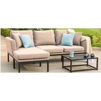 Product photograph showing Maze Lounge Outdoor Pulse Taupe Fabric Chaise Sofa Set