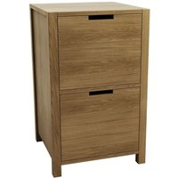 Product photograph showing Qualita Sims Oak Filing Cabinet