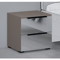 Product photograph showing Rauch 20up Bedside Cabinet With Mirror Front