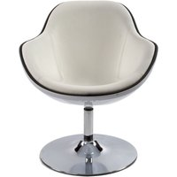 Product photograph showing Amblar White Faux Leather Chair