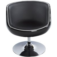 Product photograph showing Raheen Black Faux Leather Chair