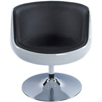 Product photograph showing Raheen Faux Leather Chair - White And Black