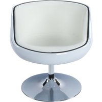 Product photograph showing Raheen White Faux Leather Chair