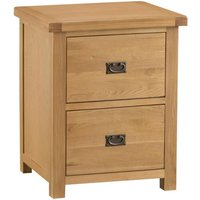 Product photograph showing Tucson Oak Filing Cabinet