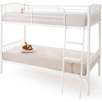 Product photograph showing Oslo White Twin Bunk Bed