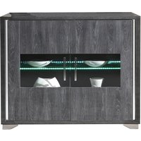 Product photograph showing Augusta Oak 2 Door Italian Sideboard With Led Light