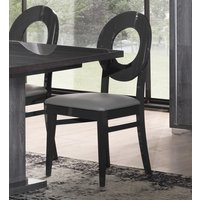 Product photograph showing Augusta Oak Italian Oval Dining Chair Pair