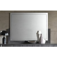 Product photograph showing Augusta Oak Large Italian Wall Mirror
