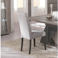 Product photograph showing Bagni Fabric Italian Dining Chair Pair