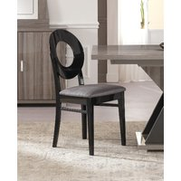 Product photograph showing Bagni Oval Wooden Italian Dining Chair Pair