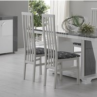 Product photograph showing Delia White Italian Dining Chair Pair