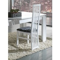 Product photograph showing Ribera White Italian Dining Chair Pair