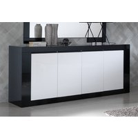 Product photograph showing Vita Black And White 4 Door Italian Sideboard