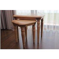 Product photograph showing Tch Lamont Oak Nest Of Tables Set Of 2