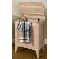 Product photograph showing Tch New England Oak Laundry Chest