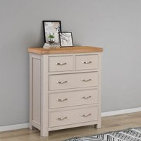 Product photograph showing Clarion Oak And Grey Painted 2 3 Drawer Chest