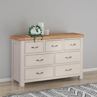 Product photograph showing Clarion Oak And Grey Painted 3 4 Drawer Chest