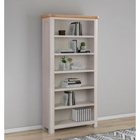 Product photograph showing Clarion Oak And Grey Painted Bookcase