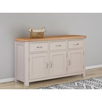 Product photograph showing Clarion Oak And Grey Painted Large Sideboard
