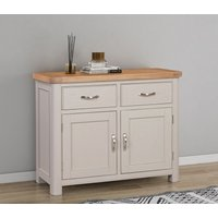 Product photograph showing Clarion Oak And Grey Painted Medium Sideboard