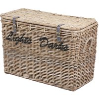 Product photograph showing The Wicker Merchant Light And Dark Laundry Basket