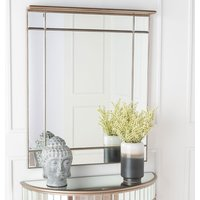 Click to view product details and reviews for Urban Deco Antoinette Rectangular Wall Mirror 80cm X 100cm.