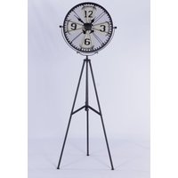 Click to view product details and reviews for Urban Deco Decorative Black Metal Tripod Clock.