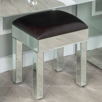 Product photograph showing Urban Deco Curve Mirrored Dressing Stool