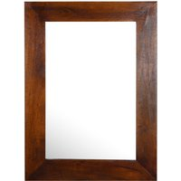 Click to view product details and reviews for Dakota Indian Mango Wood Rectangular Wall Mirror 85cm X 65cm Dark.