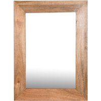 Click to view product details and reviews for Dakota Indian Mango Wood Rectangular Wall Mirror 85cm X 65cm Light.