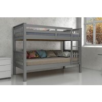 Product photograph showing Vida Living Magnus Grey 3ft Bunk Bed
