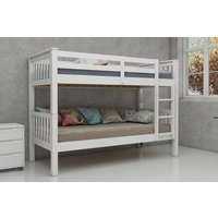 Product photograph showing Vida Living Magnus White 3ft Bunk Bed