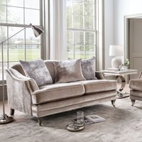 Product photograph showing Vida Living Belvedere 4 Seater Sofa With 5 Scatter - Champagne Velvet