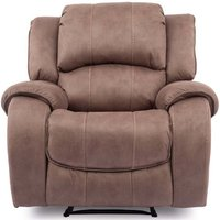 Product photograph showing Vida Living Darwin Biscuit Fabric Electric Recliner Chair