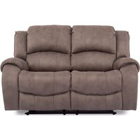 Vida Living Darwin Smoke Fabric 2 Seater Recliner Sofa