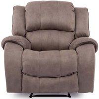 Product photograph showing Vida Living Darwin Smoke Fabric Electric Recliner Chair