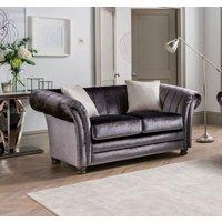 Product photograph showing Vida Living Giselle Charcoal Velvet 2 Seater Sofa