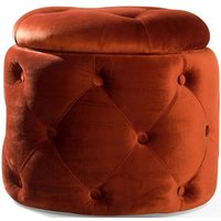 Product photograph showing Vida Living Jools Copper Velvet Footstool