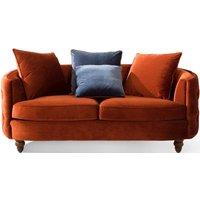 Product photograph showing Vida Living Jools Copper Velvet Sofa