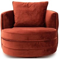 Product photograph showing Vida Living Jools Copper Velvet Swivel Chair