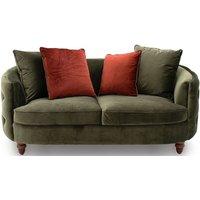 Product photograph showing Vida Living Jools Olive Velvet Sofa