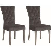Product photograph showing Vida Living Pembroke Charcoal Velvet Dining Chair Pair