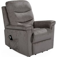 Product photograph showing Vida Living Glencoe Mink Fabric Electric Recliner Chair