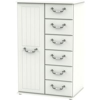 Product photograph showing Coniston Cream 1 Door Children Wardrobe