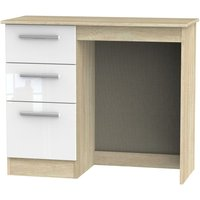 Click to view product details and reviews for Contrast High Gloss White and Bardolino Vanity Dressing Table.