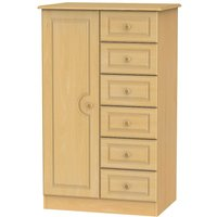 Product photograph showing Pembroke Beech 1 Door Children Wardrobe